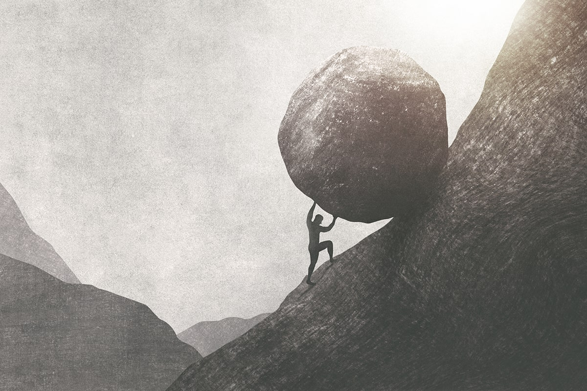 life is pointless for Sisyphus, but not for you